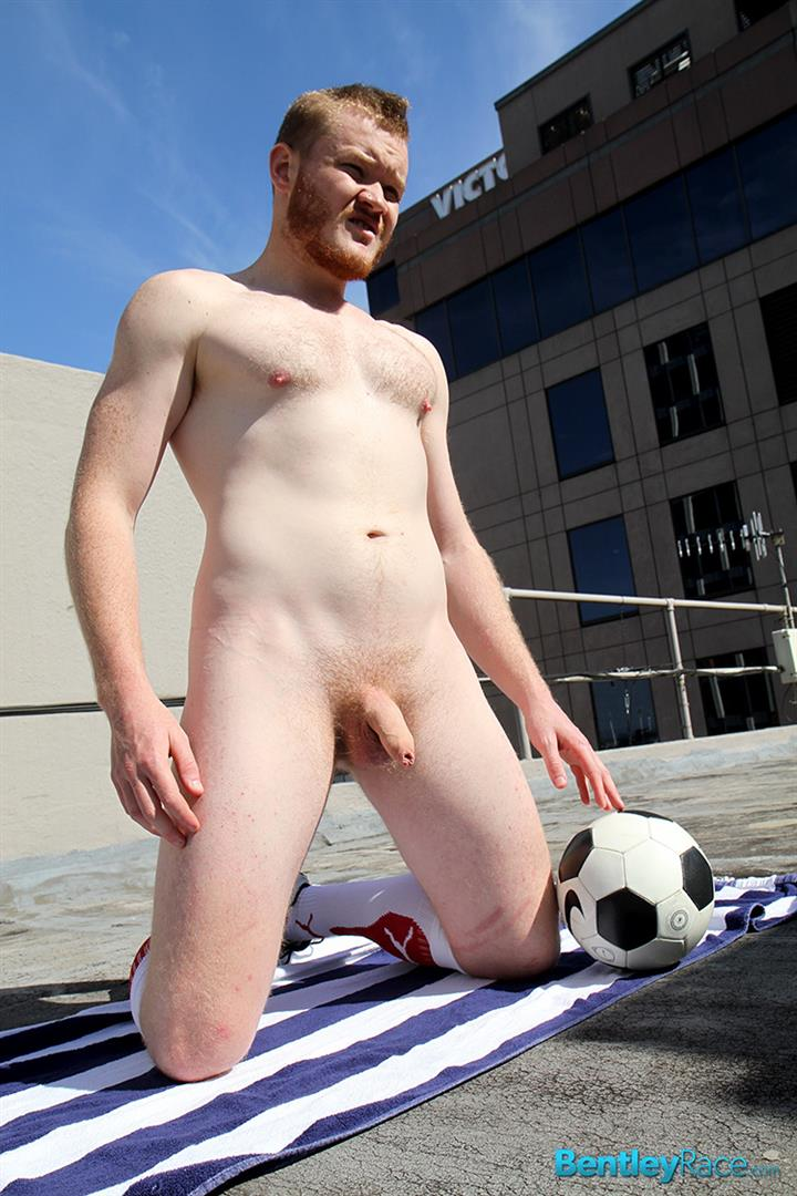 Bentley-Race-Beau-Jackson-Beefy-Redhead-Jerking-His-Big-Uncut-Cock-Amateur-Gay-Porn-27 Redhead Aussie Soccer Player Naked and Stroking A Big Uncut Cock