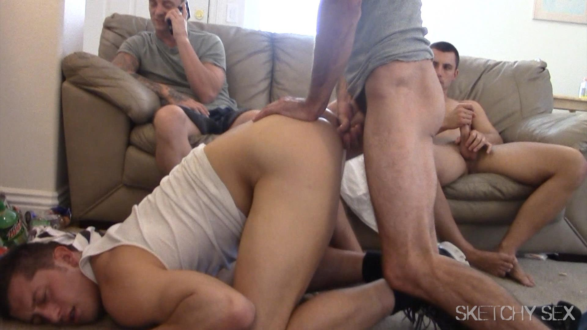 Sketchy-Sex-Anonymous-Bareback-Sex-Party-Amateur-Gay-Porn-10 Straight Jock Addicted To Taking Anonymous Bareback Loads