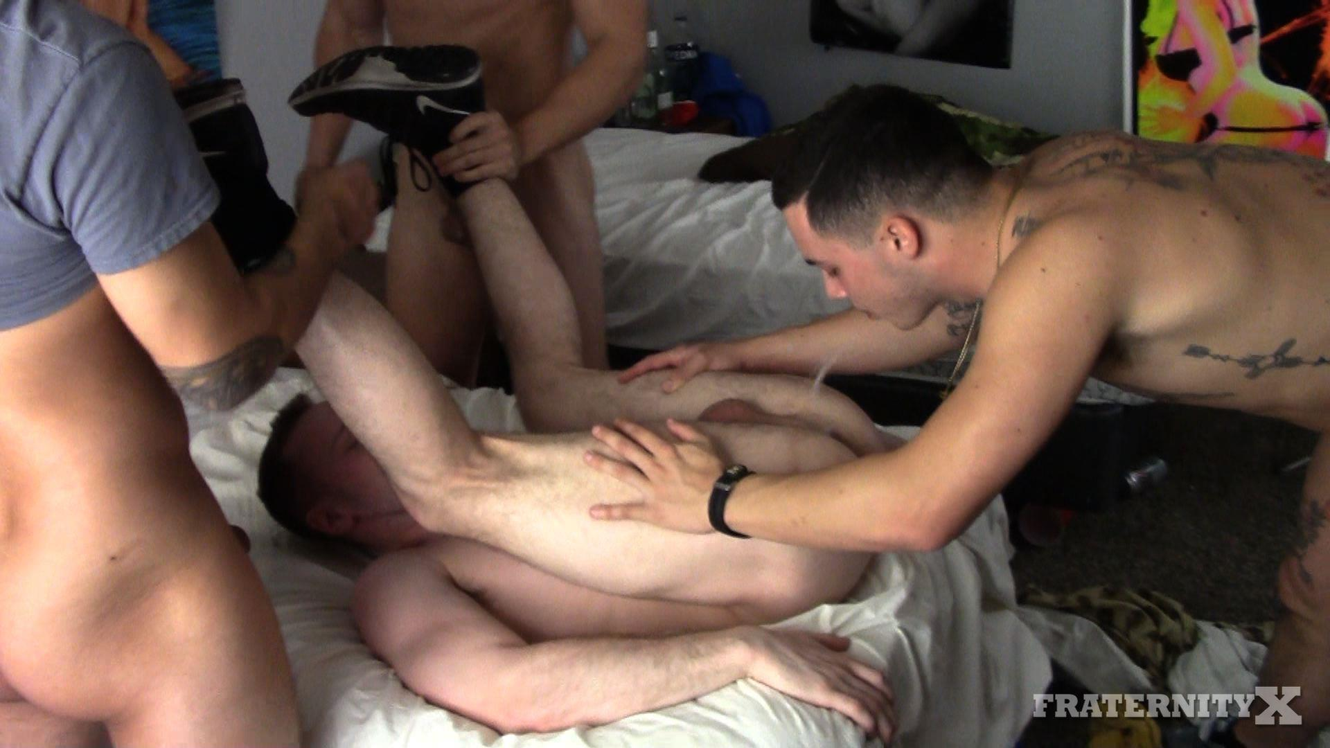 Fraternity-X-Naked-Frat-Guys-Bareback-Gay-Sex-Big-Dicks-07 Drunk Frat Boys Bareback Tag Team A Poor Freshman Ass